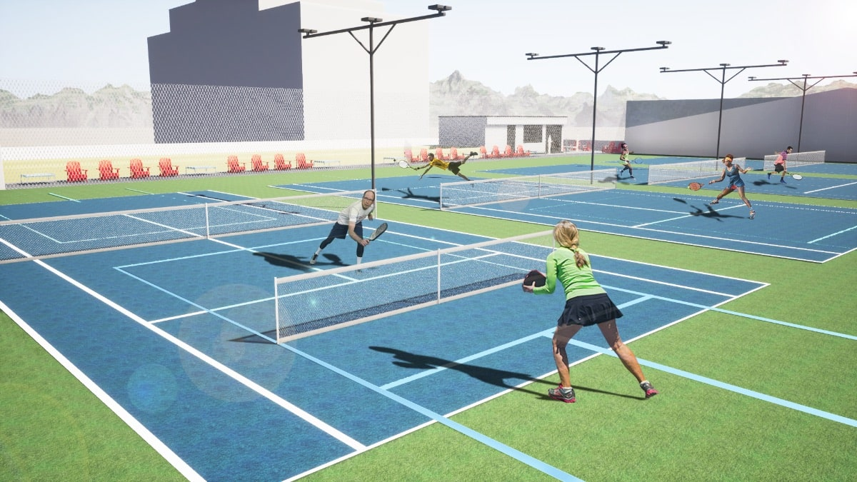 Pickleball outdoor court